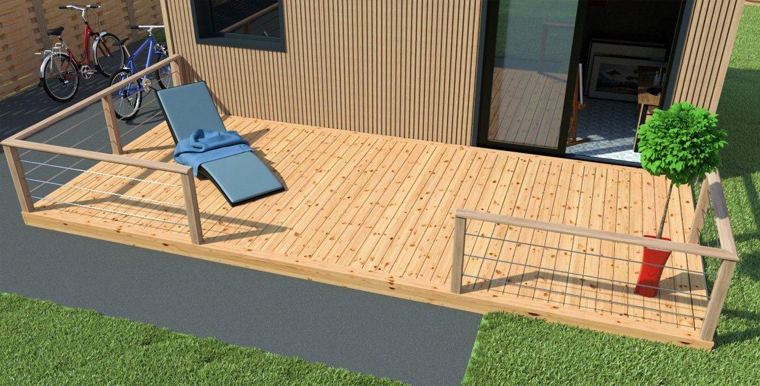 faire une terrasse en bois tous nos conseils sur petitemaisonbois. Black Bedroom Furniture Sets. Home Design Ideas