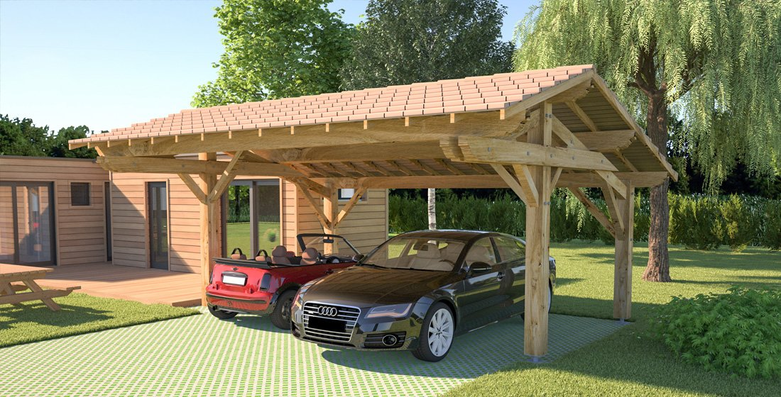 un carport pour votre voiture petite maison bois. Black Bedroom Furniture Sets. Home Design Ideas