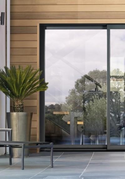 baie vitrée RAL 7016