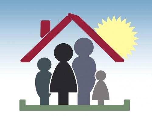 Une maison familiale, la maison en bois