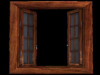 fenêtre bois pour chalet de jardin