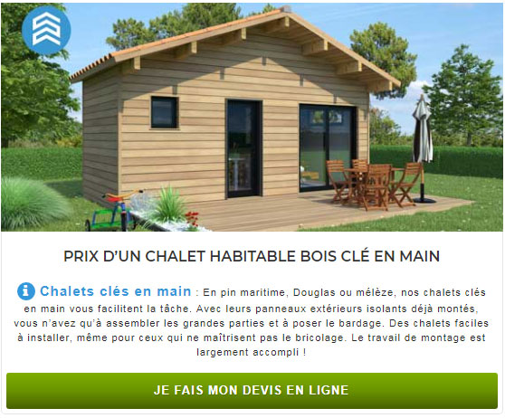 chalet en bois habitable en kit un logement d appoint. Black Bedroom Furniture Sets. Home Design Ideas