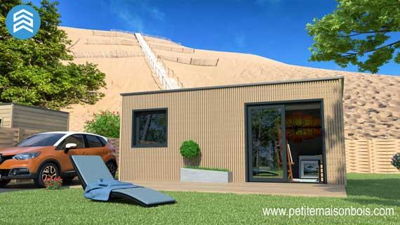 Studio de jardin 2 petite maison bois for Petite maison de jardin en bois