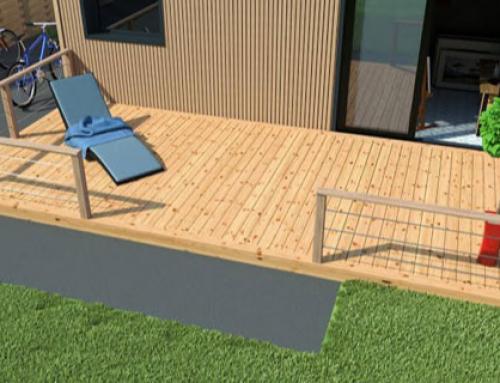 un studio de jardin pour loger un parent petite maison bois. Black Bedroom Furniture Sets. Home Design Ideas