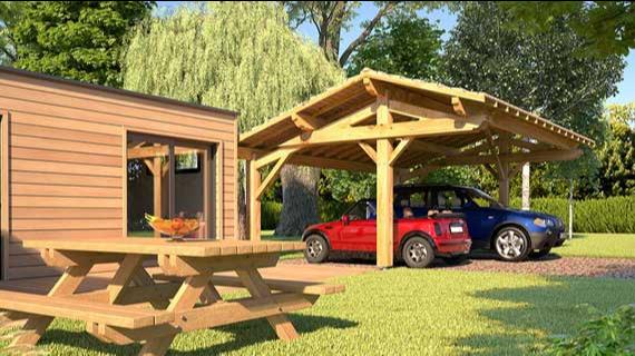 devis kit carport bois petite maison bois. Black Bedroom Furniture Sets. Home Design Ideas