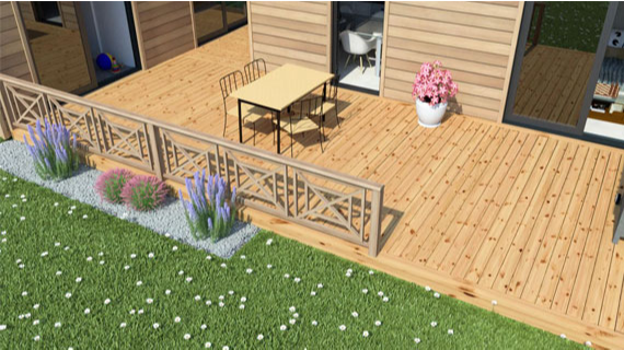 3 conseils pour am nager votre terrasse bois petite. Black Bedroom Furniture Sets. Home Design Ideas