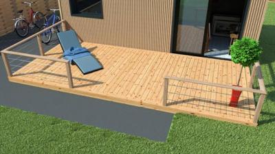 terrasse bois en kit