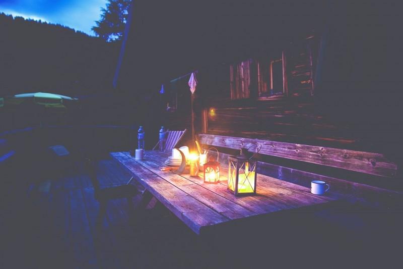 chalet en bois pour un camping