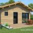 chalet en bois habitable pour jardin