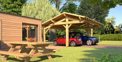 carport abri de garage bois pour le jardin