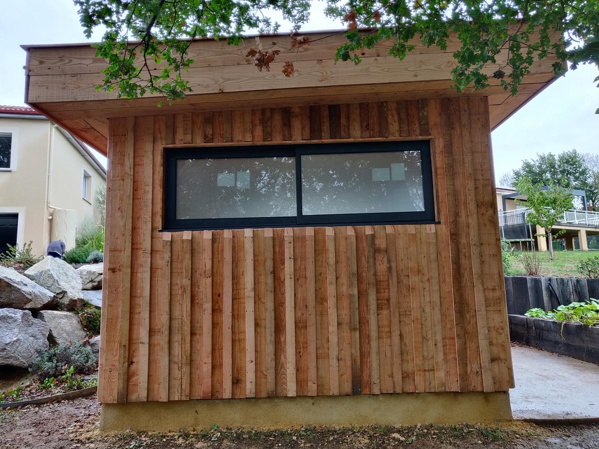 fenêtre coulissante sur ossature bois