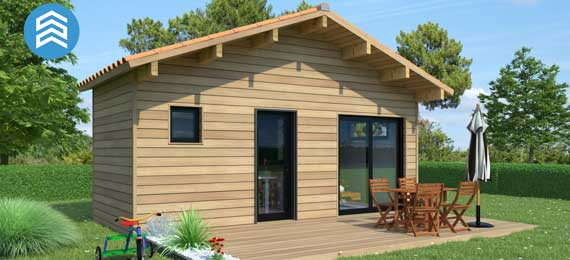 prix d 39 un chalet habitable bois en kit ou cl en main. Black Bedroom Furniture Sets. Home Design Ideas